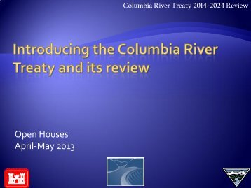 April/May 2013 - Columbia River Treaty 2014-2024 Review