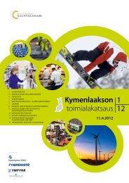 Kymenlaakson toimialakatsaus 1-2012.pdf - Kaupunkitutkimus TA Oy