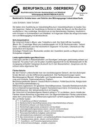 Merkblatt für Schüler - Schulen in der Region Oberberg