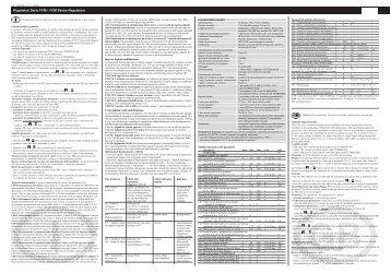 Regolatori Serie FCM / FCM Series Regulators