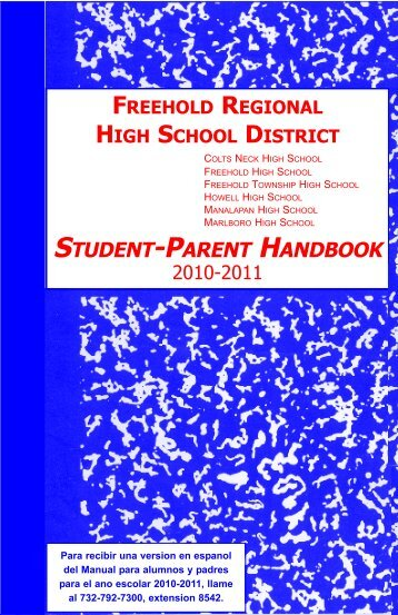 Student/Parent Handbook - Freehold Regional High School District