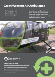 Great Western Air Ambulance - Stroud and District Athletic Club