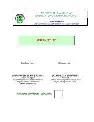 Bah. Rancangan Pembangunan - JPBD Selangor