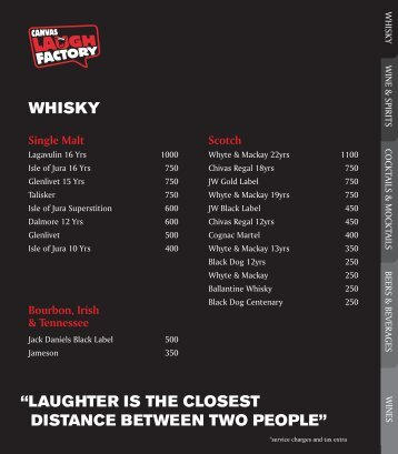 """""""laughter is the closest distance between two people"""" whisky"""