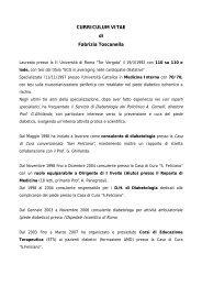 CURRICULUM VITAE di Fabrizia Toscanella