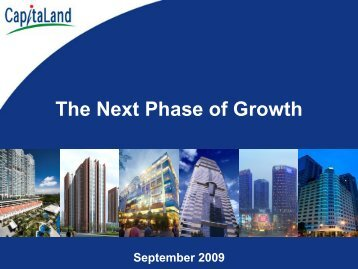 "CL: Presentation Slides - ""The Next Phase of Growth"""