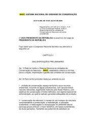 SNUC- SISTEMA NACIONAL DE UNIDADES DE CONSERVAÇÃO