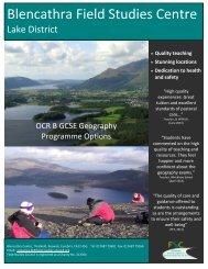 OCR B GCSE Geography - Field Studies Council