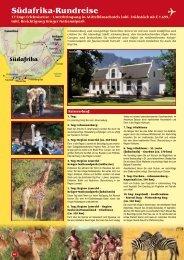 Südafrika-Rundreise