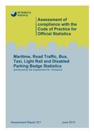 Assessment Report 221 - Maritime, Road Traffic, Bus, Taxi, Light ...