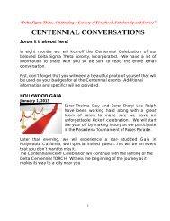 CENTENNIAL CONVERSATIONS - Delta Sigma Theta Sorority. Inc.