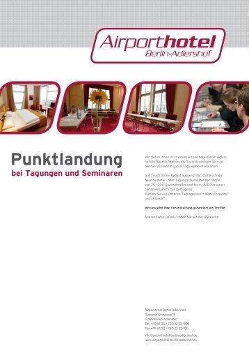 Punktlandung bei Tagungen und Seminaren - Airporthotel Berlin ...