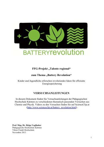 "zum Thema ""Battery Revolution ... - ScienceClip.at"