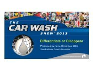 Differentiate or Disappear Part A - International Carwash Association
