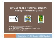 HIV AND FOOD & NUTRITION SECURITY: Building Sustainable ...
