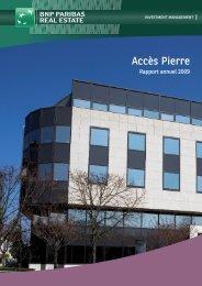 Rapport annuel - Accès Pierre - 2009 - BNP Paribas REIM