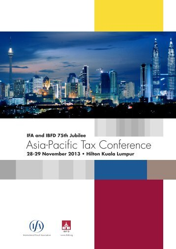 Asia-Pacific Tax Conference - International Fiscal Association