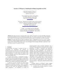 Servlets e COM para a Visualização de Dados Geográficos na Web
