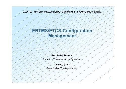 ERTMS/ETCS Configuration Management - UIC