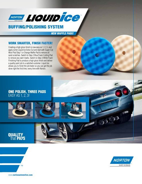 "Norton 8/"" Super Cut Wool Pad   Step 1 Package of 1 NOR-42077"