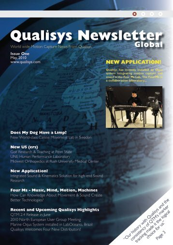 Qualisys Newsletter 2010 May
