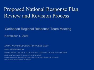 NRP Review Process - U.S. National Response Team (NRT)