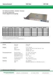 Sammelnetzteil 500 Watt VNT-500 - FG-Elektronik GmbH