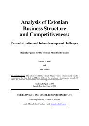 Analysis of Estonian Business Structure and ... - Arengufond