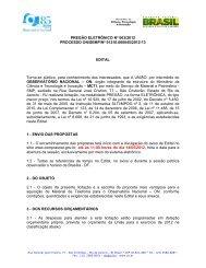 Edital do Pregão Eletrônico Nº 003/2012 (PDF) - Observatório ...