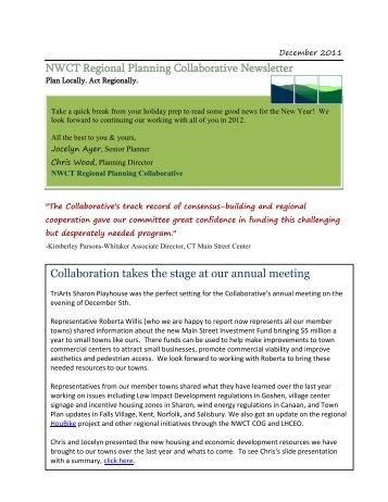 December 2011 - Northwestern Connecticut Planning Collaborative