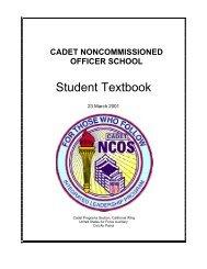 NCOS Student Textbook - California Wing Cadet Programs