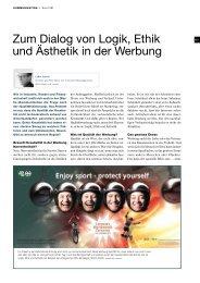 Zum Dialog von Logik, Ethik und Ästhetik in der Werbung - jak.ch