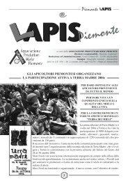 Il linea il Supplemento L'Apis Piemonte