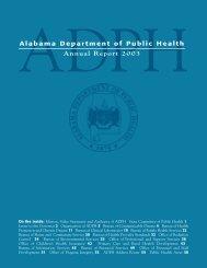 ADPH 2003 Annual Report - Alabama Department of Public Health
