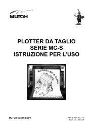 PLOTTER DA TAGLIO SERIE MC-S ISTRUZIONE PER L'USO - Mutoh