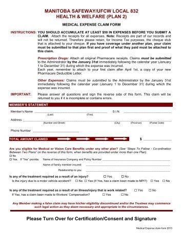 Medical Claim Form Secure Health