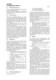 Satzung TV-Hasperbach Stand 2004 - TV Hasperbach 1898 eV