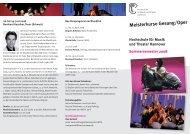 Meisterkurse Gesang/Oper - Hochschule für Musik, Theater und ...