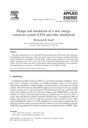 conscious system (CFD and solar simulation)