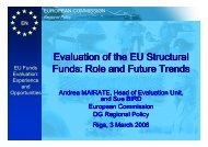 Evaluation of the EU Structural Funds: Role and Future ... - ES fondi