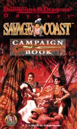 Savage Coast Campaign Book