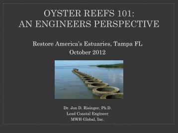 oyster reefs 101 - Restore America's Estuaries