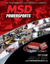 2007 MSD Powersports Catalog - Exhaust Gas Technologies Inc.