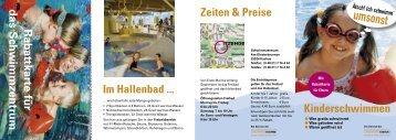 Seepferdchen- Abzeichen - Stadtwerke Itzehoe