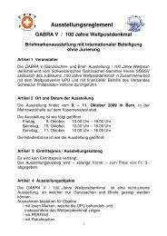 Ausstellungsreglement - Schweizerischer Ganzsachen-Sammler ...