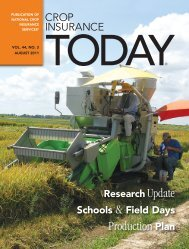 August 2011 - National Crop Insurance Services