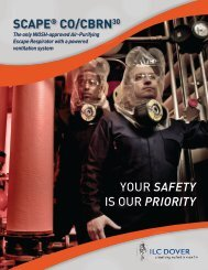 SCAPE® CO/CBRN30 YOUR SAfETy is OUR PRIORITy - Team-Logic
