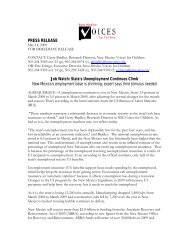 PRESS RELEASE - New Mexico Voices for Children