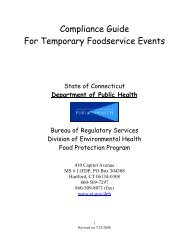 Compliance Guide for Temporary Foodservice Events - CT.gov