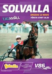 13 mars - Solvalla